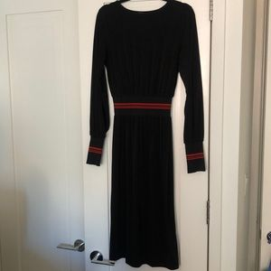 Zara black dress with athletic detail
